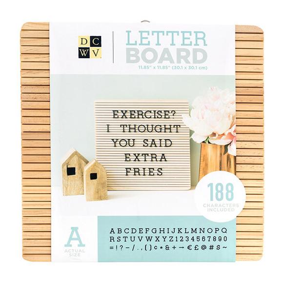 לוח Letter Board - Frameless - Light Wood