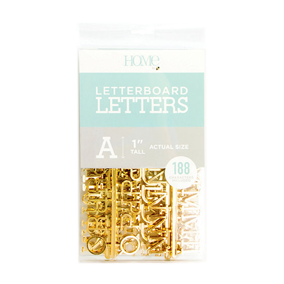 Letter Board - Letter Packs - 1 Inches - Gold