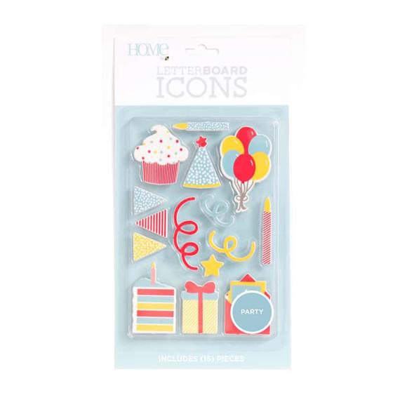 אייקונים ללוח אותיות Letter Board - Icons Party
