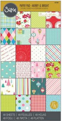 "Sizzix 6"" x 12"" Cardstock Pad - Merry & Bright"