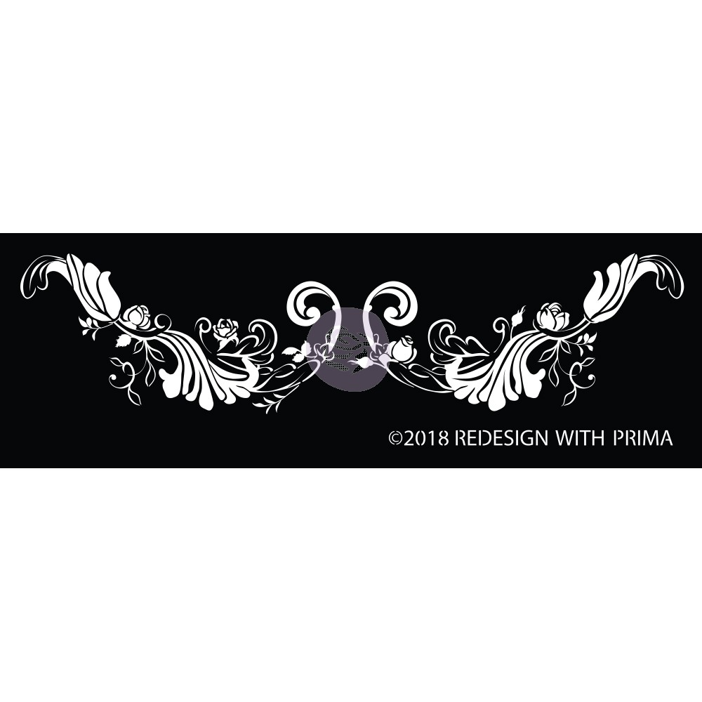 שבלונה דביקה - Delicate Fleur Scroll