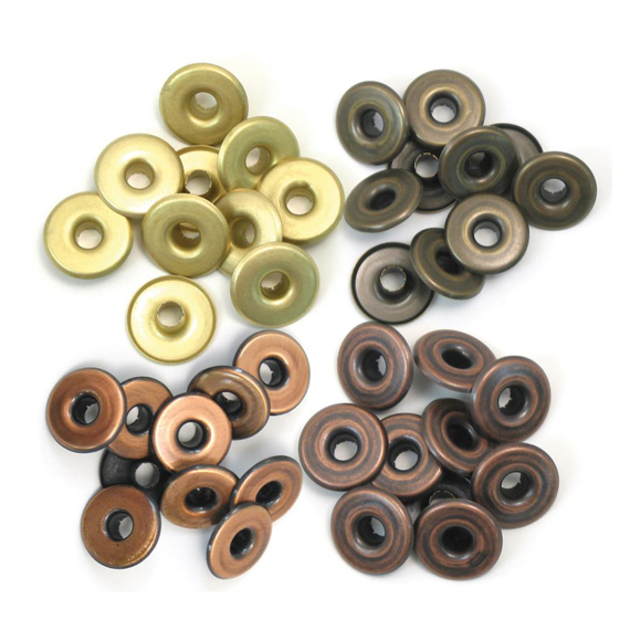 ניטים - Eyelets Wide - Warm Metal