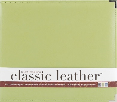 "אלבום דמוי עור 12"" - Classic Leather D-ring Album - Kiwi"