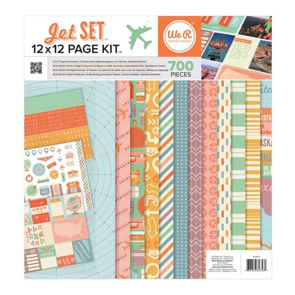 """מארז דפי קארדסטוק """"12 Jet Set Collection Kit"""