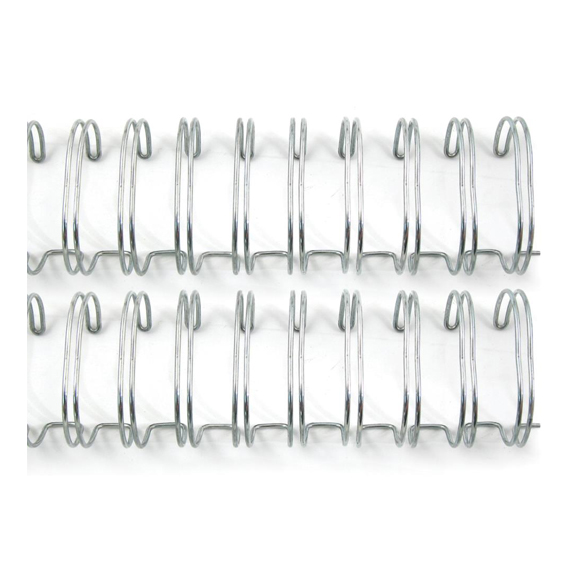 "ספירלה לכריכה - Cinch Wires 1"" Silver"