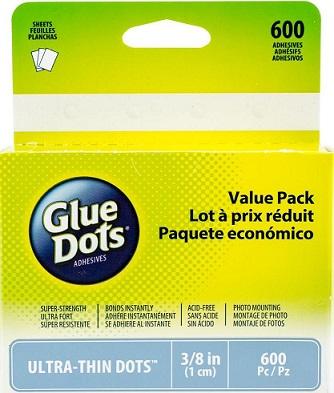 """נקודות דבק 3.8"""" - Glue Dots Ultra-Thin"""