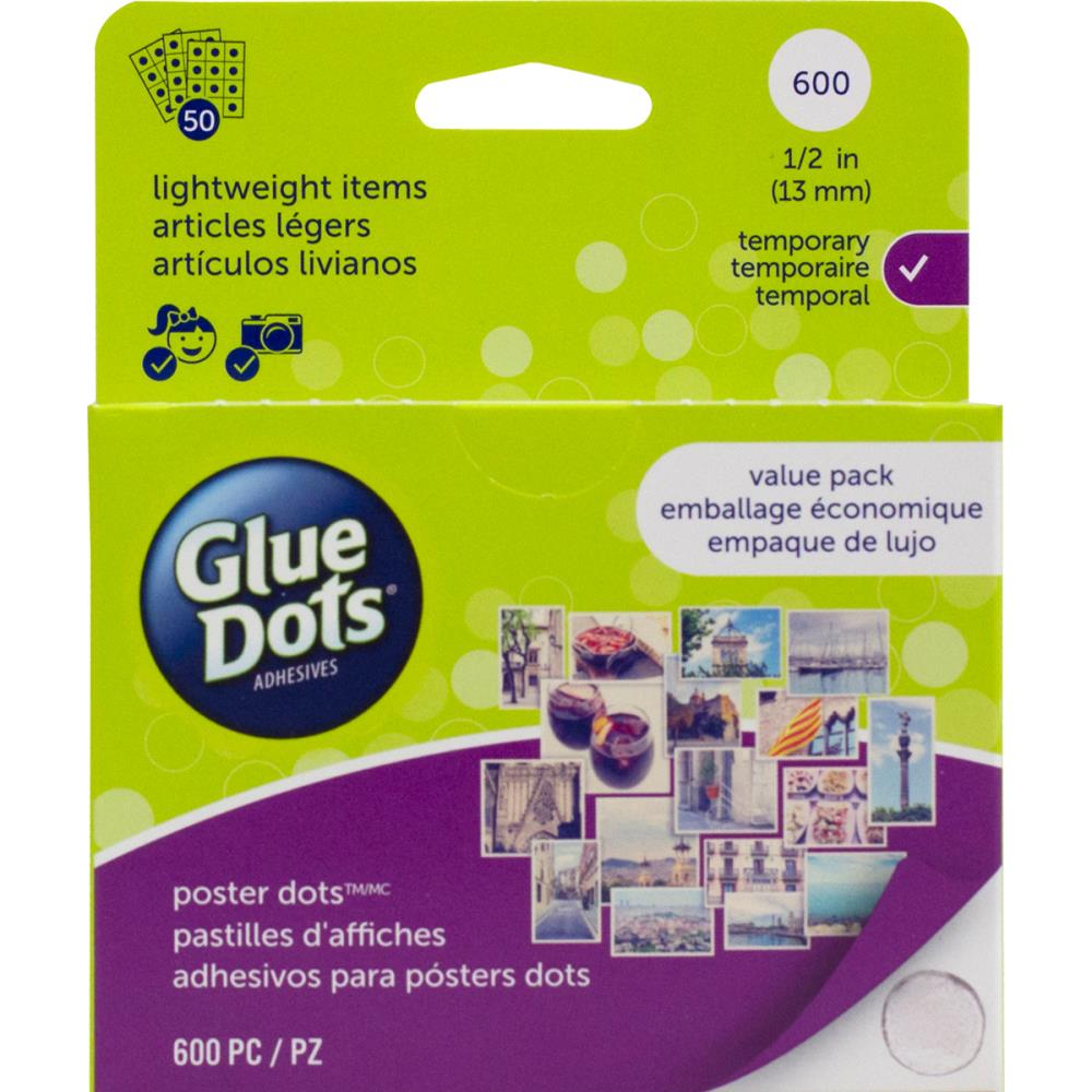 נקודות דבק - Glue Dots Clear Dot Roll - Poster Dot