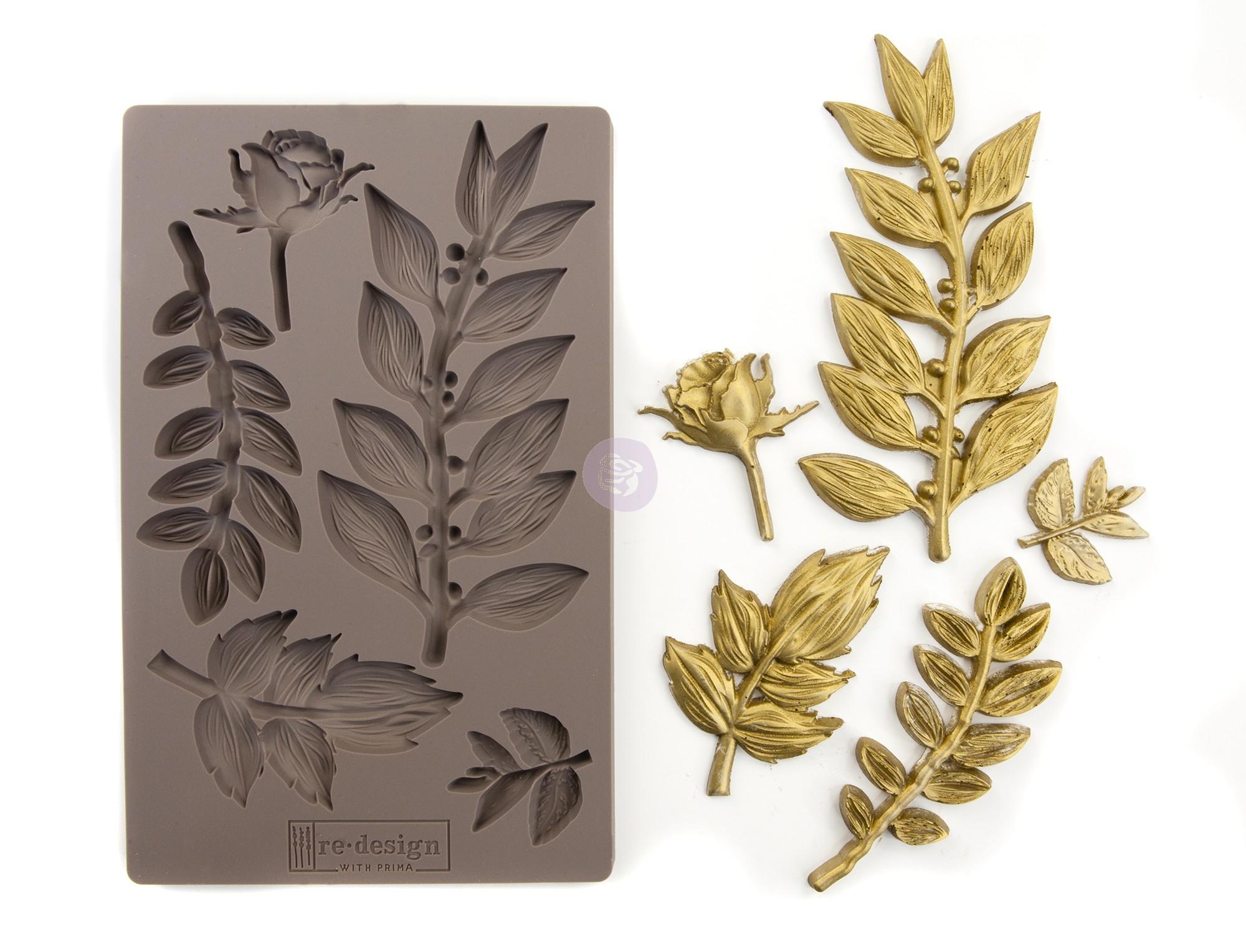 תבנית סיליקון - Leafy Blossoms