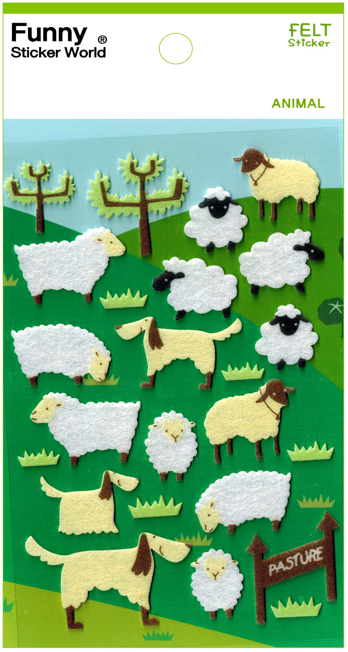 מדבקות לבד Funny Sticker World - Sheep