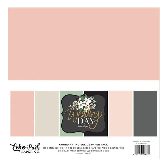 """מארז דפי קארדסטוק """"12 Wedding Day 6 Colors"""