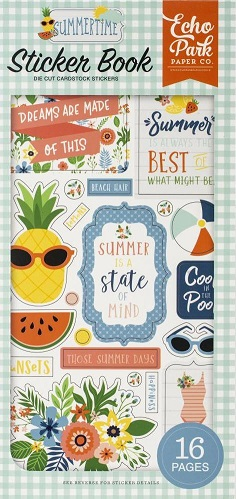 ספר מדבקות - Summertime Cardstock Sticker Book