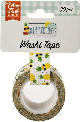 וואשי טייפ - Summertime Washi Tape - Cool Pineapples