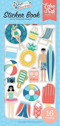 ספר מדבקות - Dive Into Summer Cardstock Sticker Book