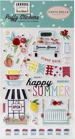 מדבקות פאף - Summer Market Puffy Stickers