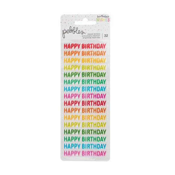 מדבקות שקופות Happy Hooray - Happy Birthday