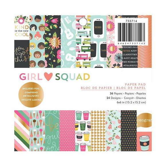 "מארז דפי קארדסטוק ""6 Girl Squad Paper Pad"