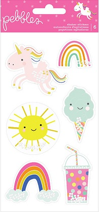 מדבקות שייקר - Live Life Happy - Stickers with Foil & Holographic Glitter