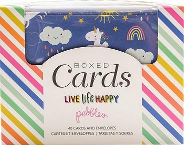 מארז כרטיסים ומעטפות - A2 Cards & Envelopes - Live Life Happy