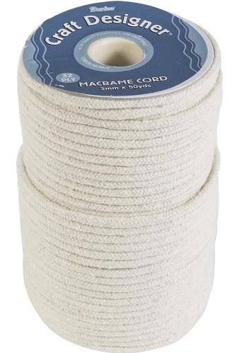חוט מקרמה צבע טבעי - Macrame Cord 3mm