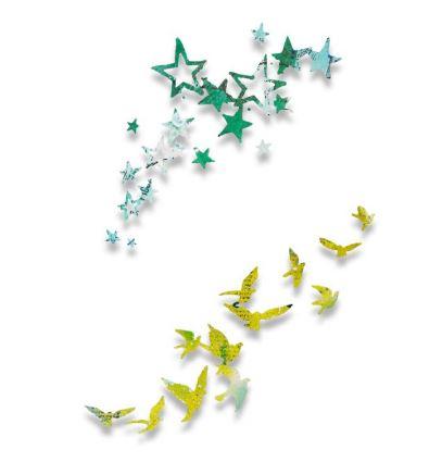 סט תבניות חיתוך - Thinlits Die Set - Birds and Stars