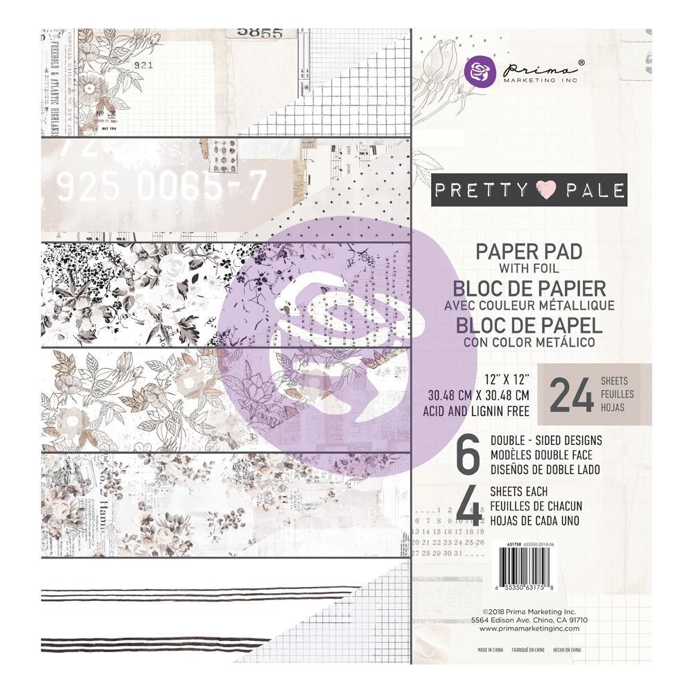 """מארז דפי קארדסטוק """"12 Pretty Pale Paper Pad"""