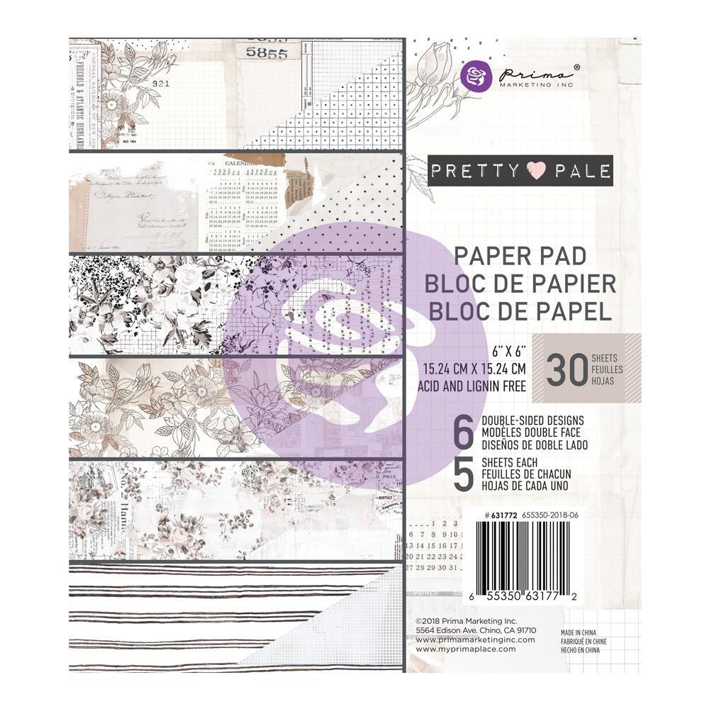 """מארז דפי קארדסטוק """"6 Pretty Pale Paper Pad"""