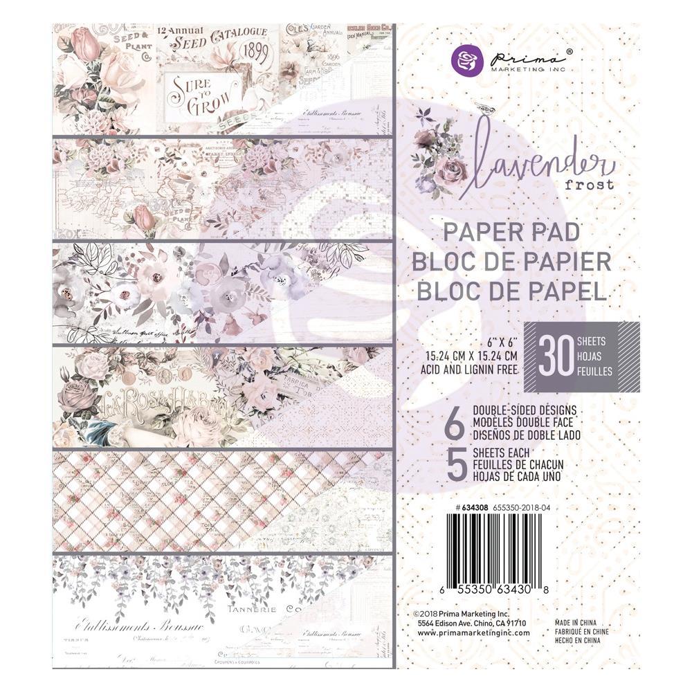 """מארז דפי קארדסטוק """"6 Lavender Frost Paper Pad"""