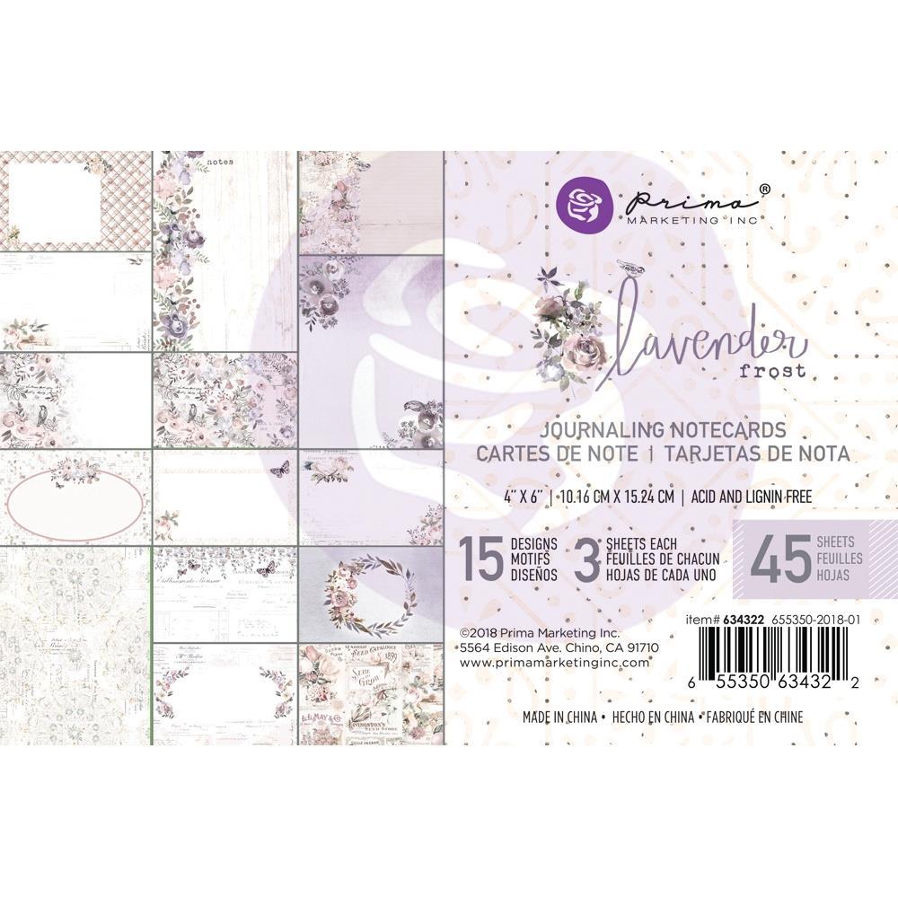 מארז דפי קארדסטוק Lavender Frost Journaling Cards
