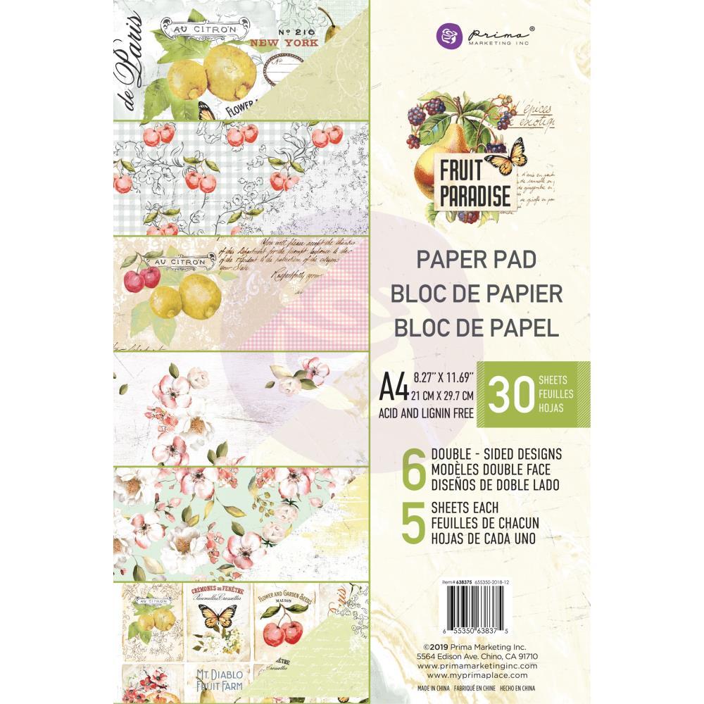 מארז דפי קארדסטוק Fruit Paradise Paper Pad A4