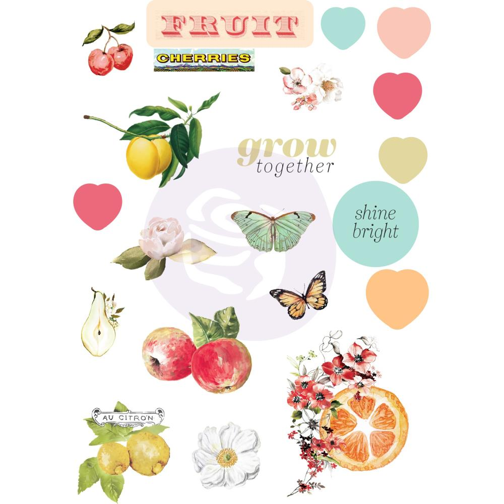 מדבקות פאף - Fruit Paradise Puffy Stickers