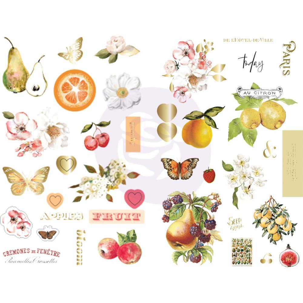 מדבקות צ'יפבורד - Fruit Paradise Chipboard Stickers