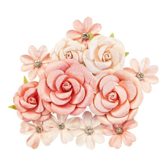 פרחי נייר Mulberry Paper Flowers - Sweet Apricot