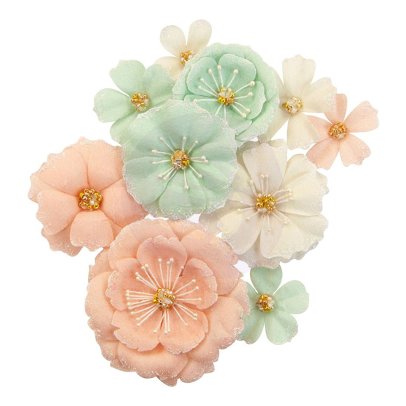 פרחי נייר Mulberry Paper Flowers - Blush & Mint
