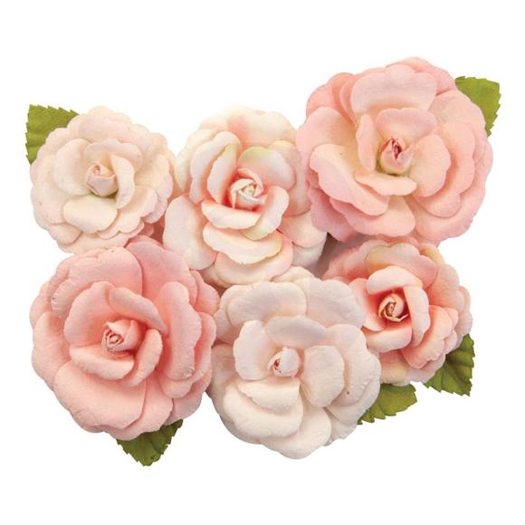 פרחי נייר Mulberry Paper Flowers - Nectarine