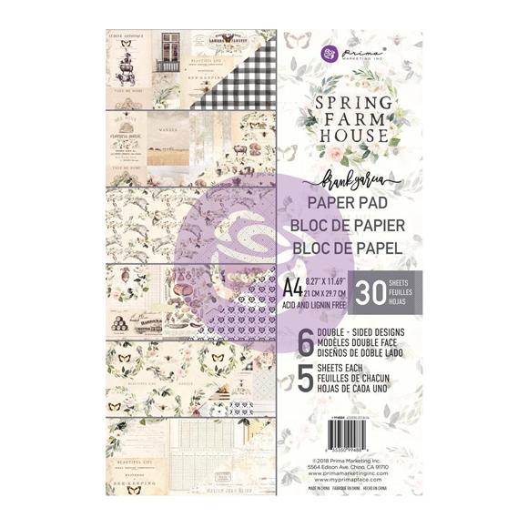 מארז דפי קארדסטוק Spring Farmhouse A4