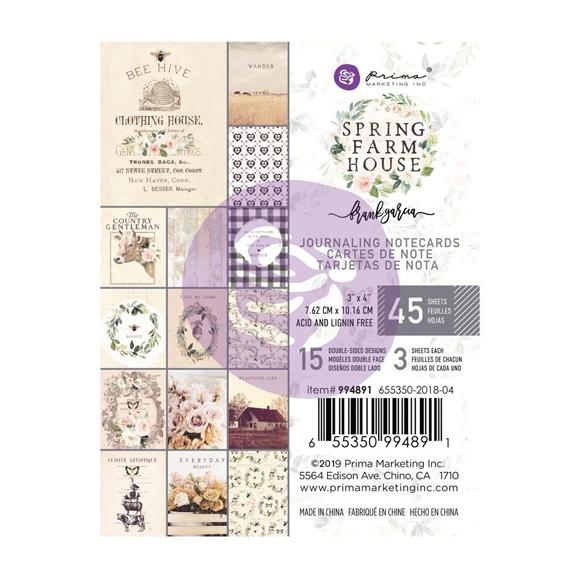 """מארז כרטיסיות """"Spring Farmhouse 3""""X4"""