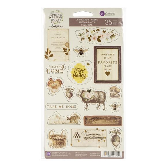 מדבקות צ'יפבורד Spring Farmhouse - Icons