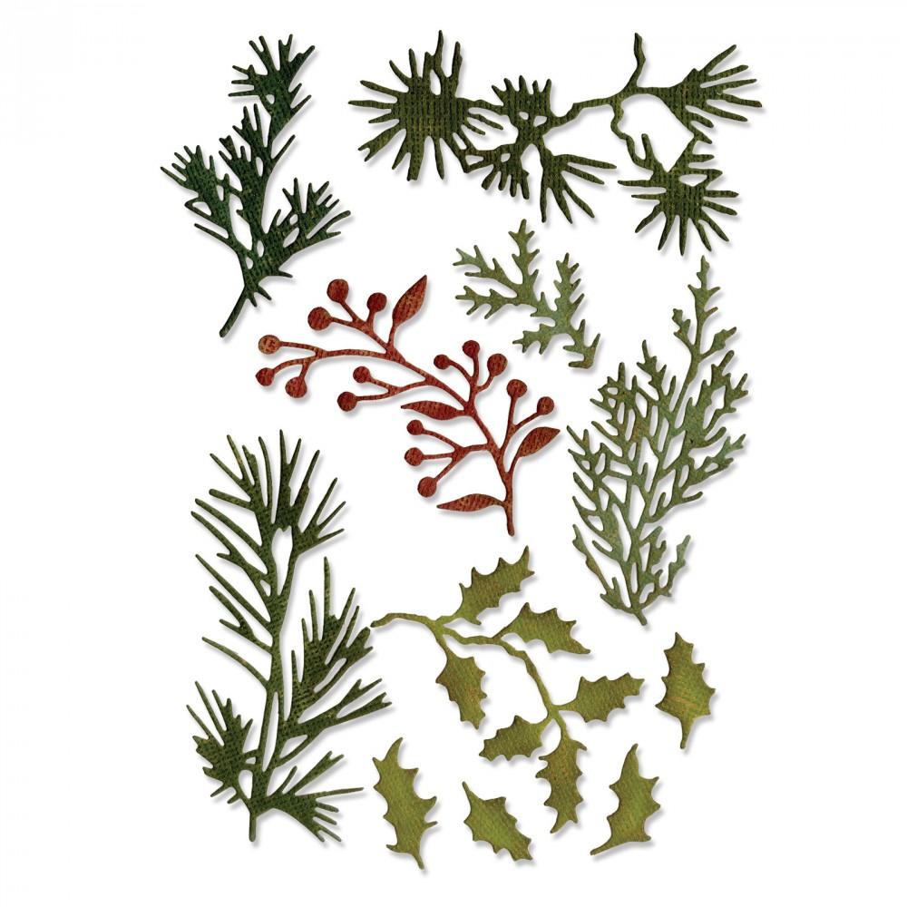 סט תבניות חיתוך - Thinlits Die - Holiday Greens, Mini