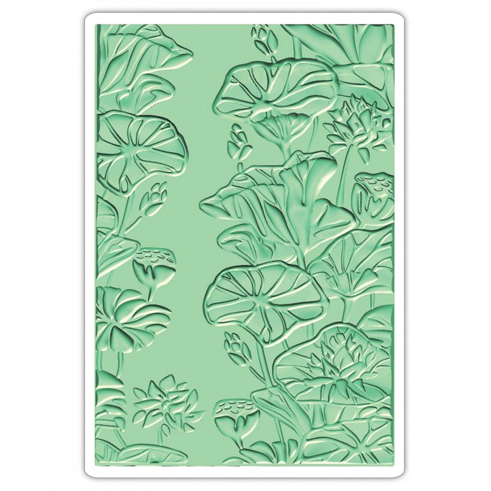 תבנית הבלטה -3D Textured Impressions - Lily Pond