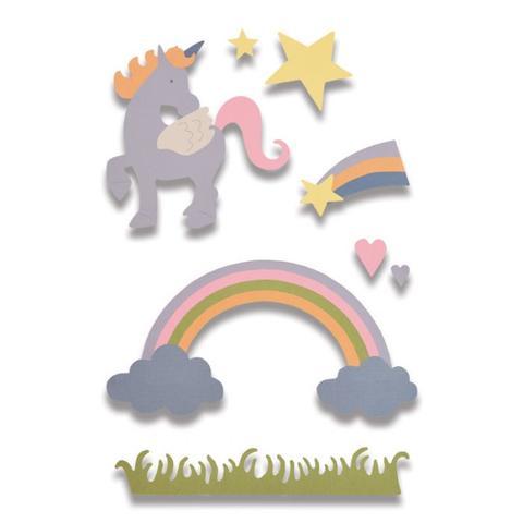 סט תבניות חיתוך - Thinlits Die Set - Magical Unicorn