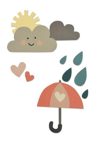 סט תבניות חיתוך - Thinlits Die Set - Rainy Days & Sunshine