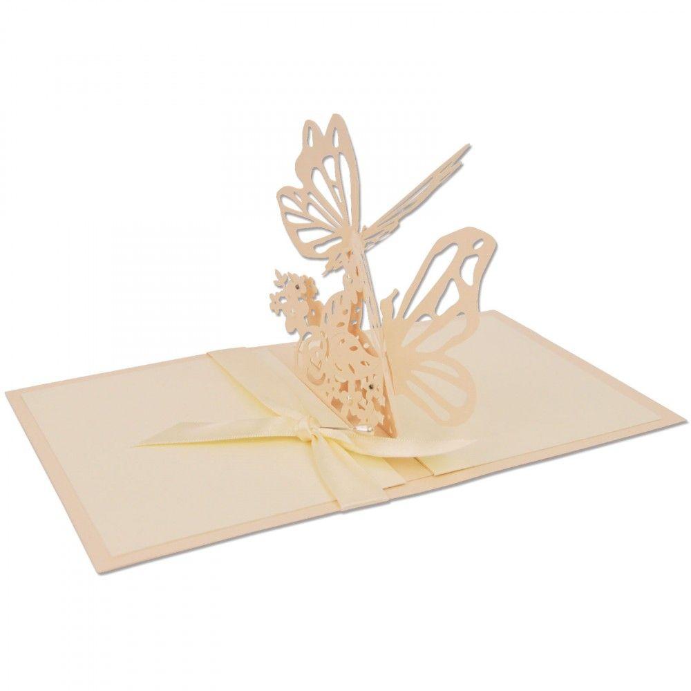 תבנית חיתוך - Thinlits Die - Interlacing Butterfly
