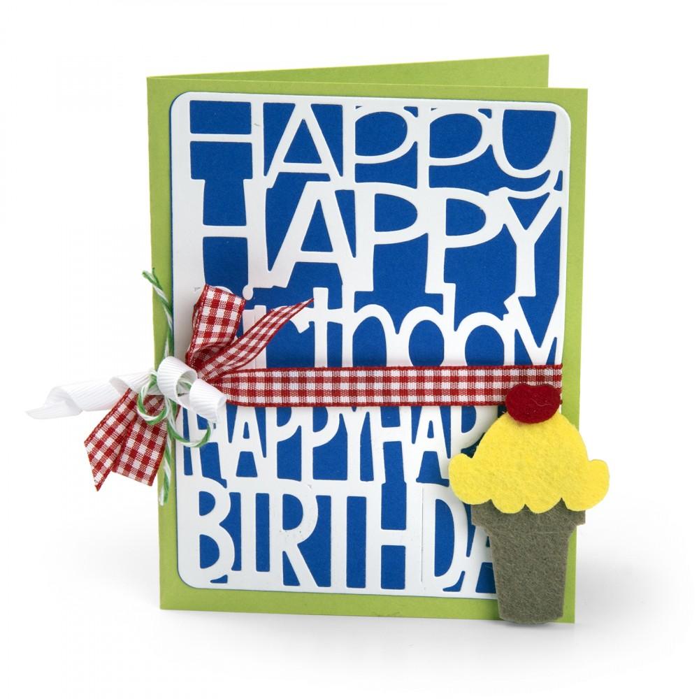 סט תבניות חיתוך - Thinlits Die Set - Happy Birthday