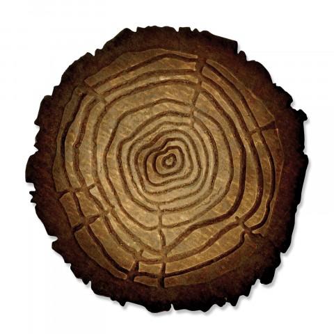 תבנית חיתוך- Bigz Die w/Texture Fades - Tree Rings
