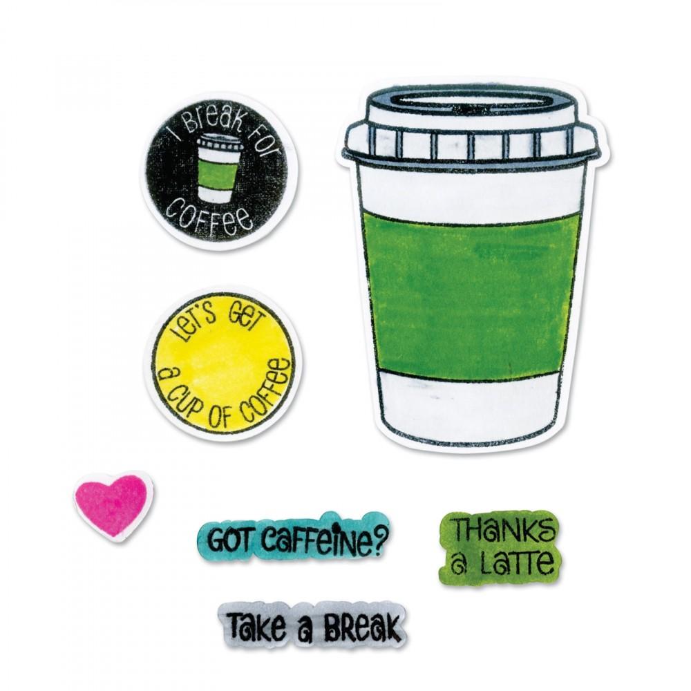 סט תבניות חיתוך וחותמות- Thinlits Die Set - Coffee
