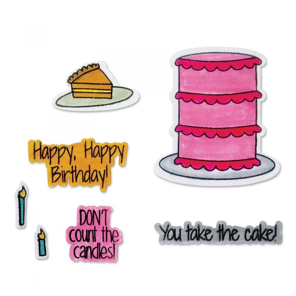 סט תבניות חיתוך וחותמות-Thinlits Die Set - Take the Cake