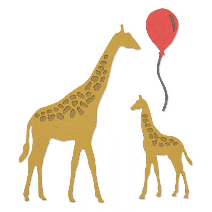 סט תבניות חיתוך - Thinlits Die Set - Giraffes