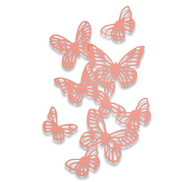 סט תבניות חיתוך - Thinlits Die Set - Butterflies