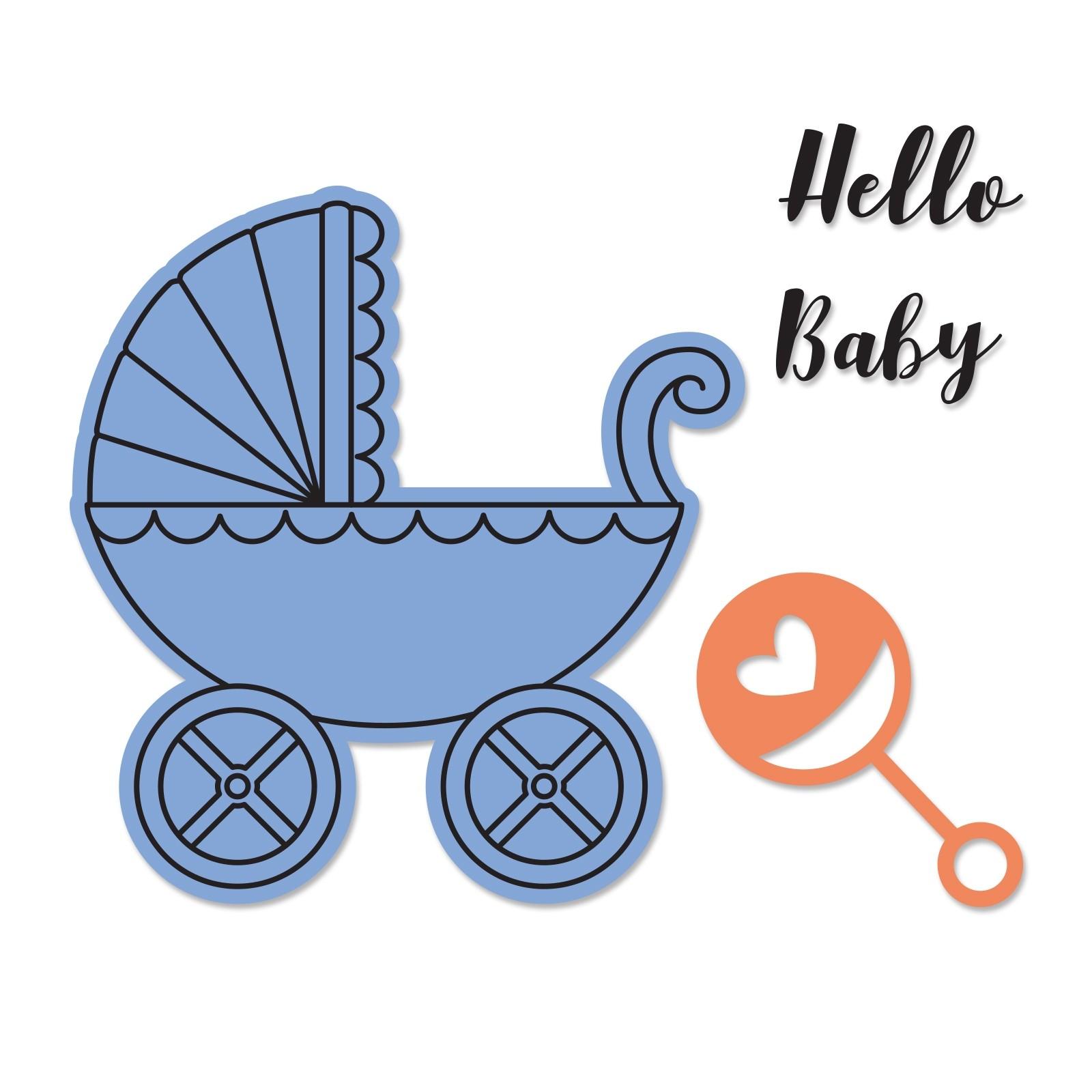סט תבניות חיתוך וחותמות תואמות - Framelits Die Set - Baby Carriage