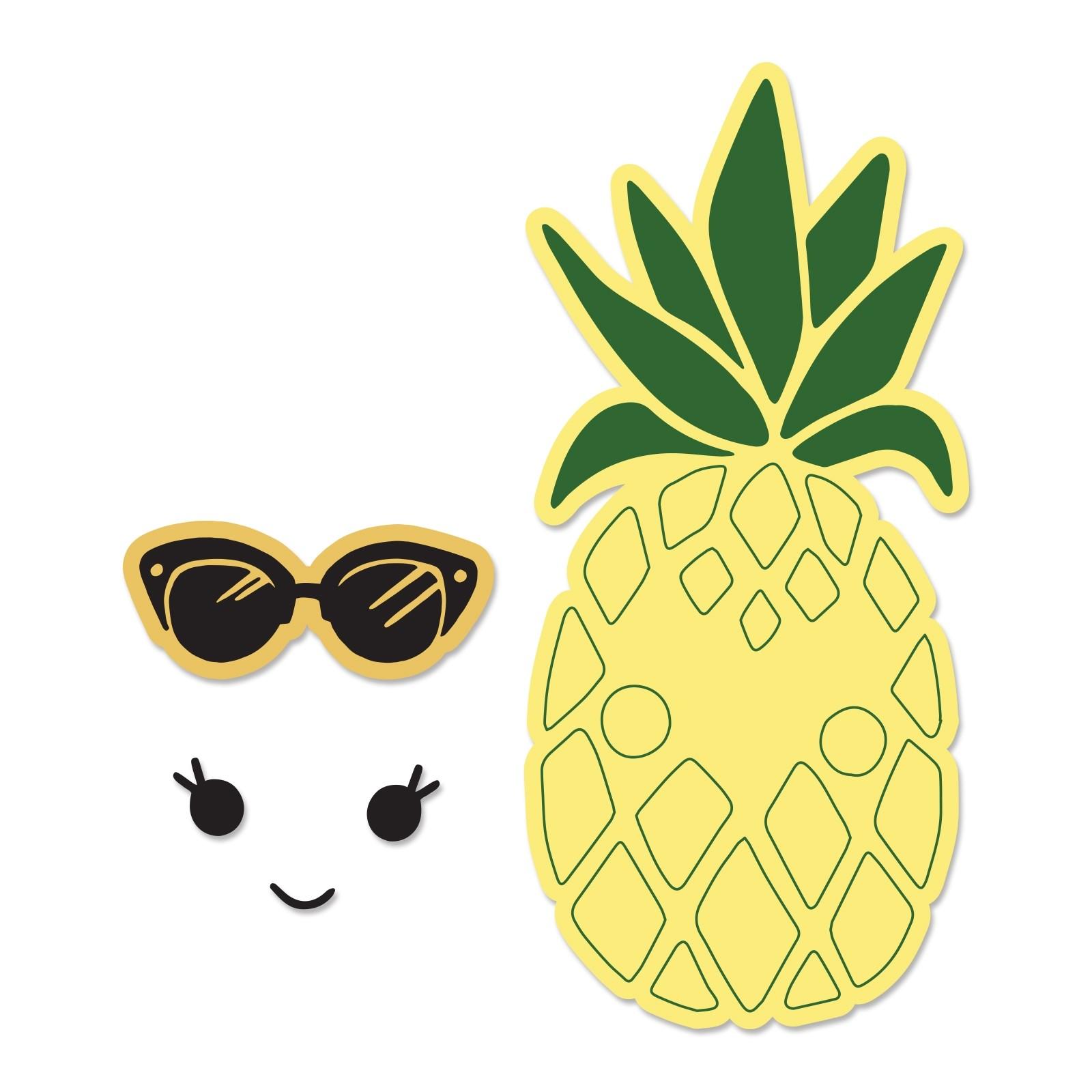 סט תבניות חיתוך וחותמות תואמות - Framelits Die Set - Sunny Pineapple